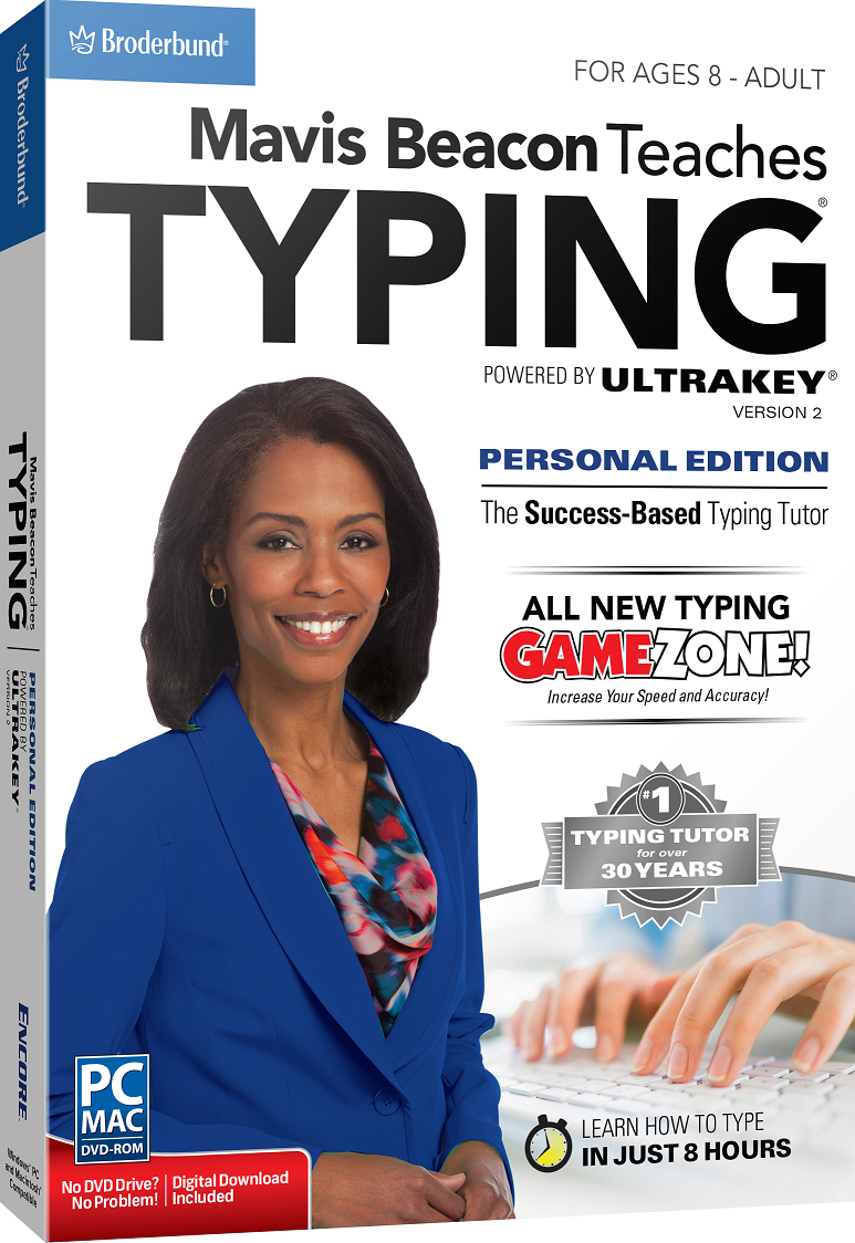 Mavis Beacon Teaches Typing Personal Edition v2 - Powered by UltraKey - MAC