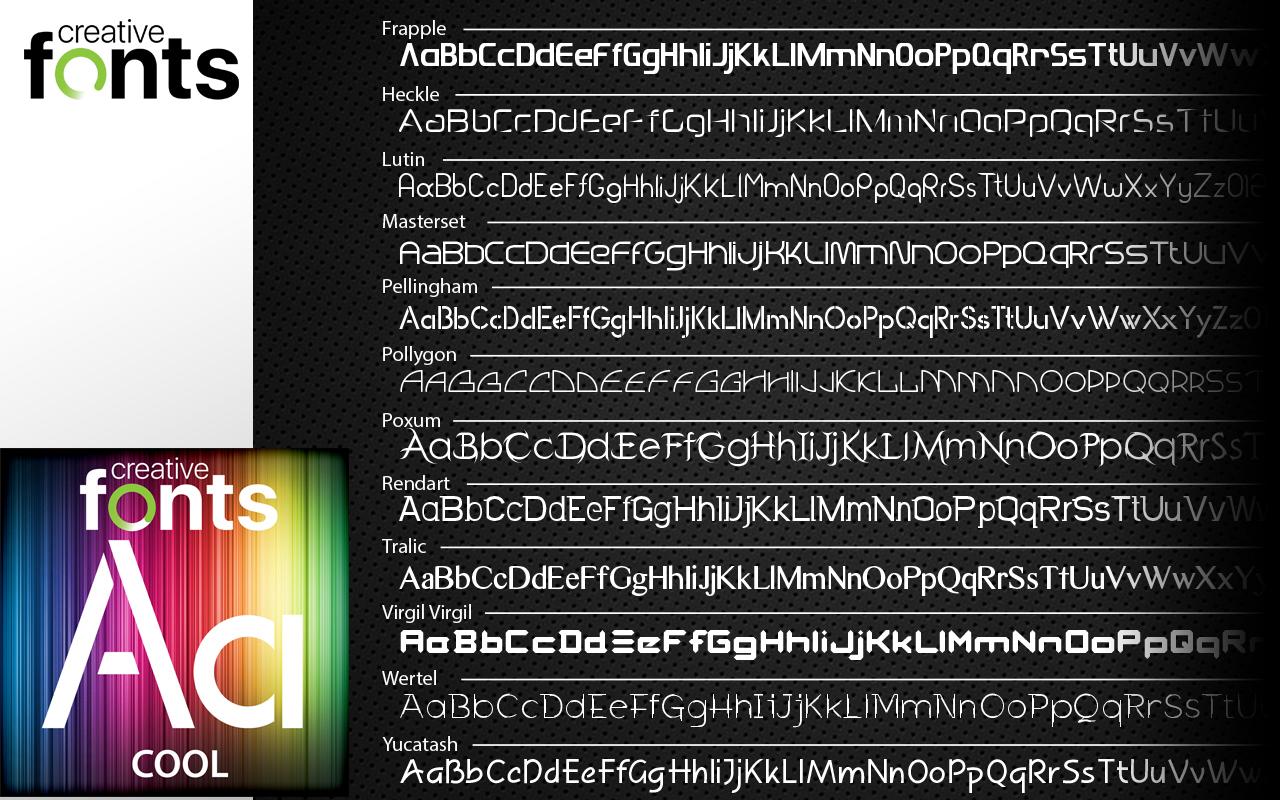creative fonts selection