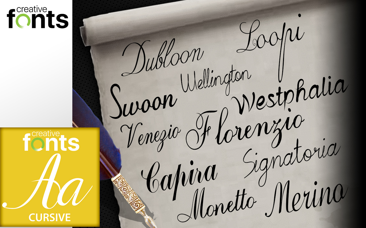 creative fonts collection