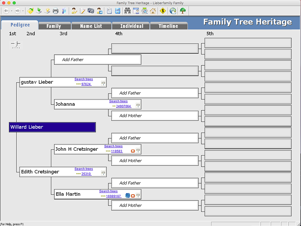 family tree heritage