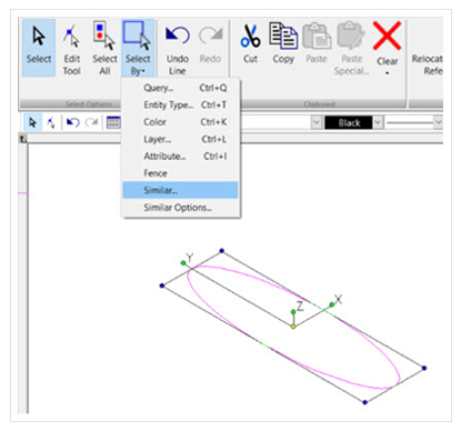 turbocad select by similar