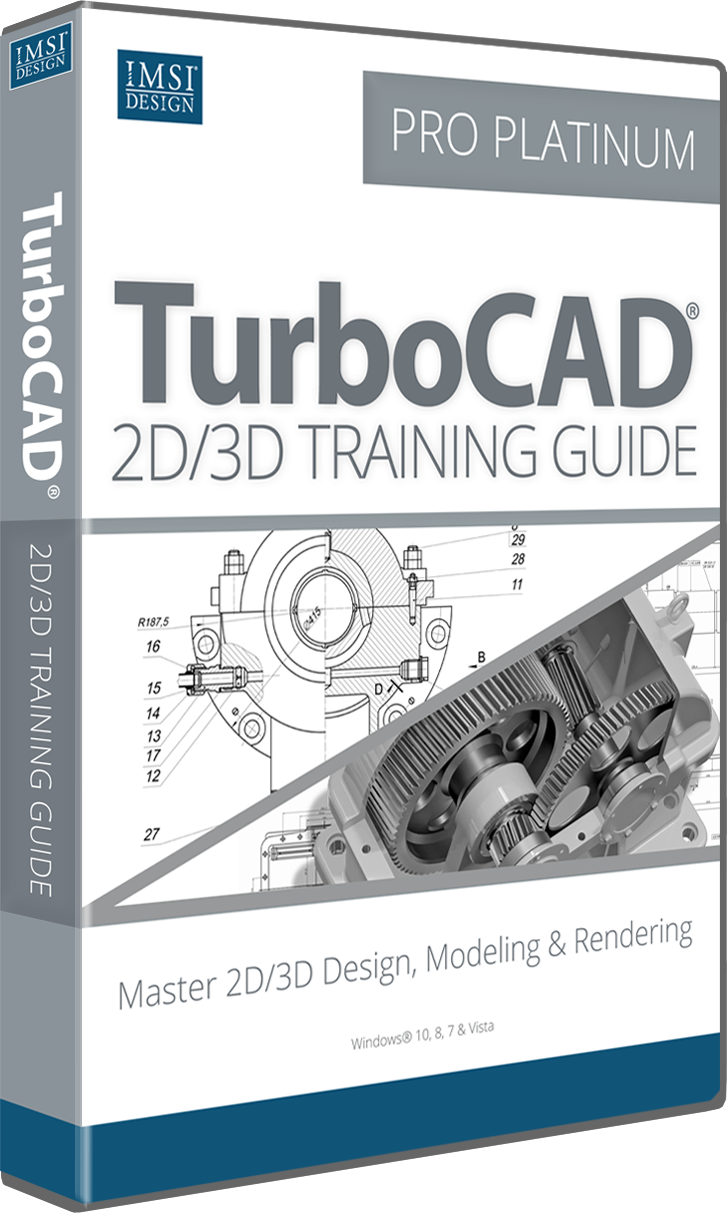 2D/3D Training Guide Bundle for TurboCAD Pro Platinum 2017