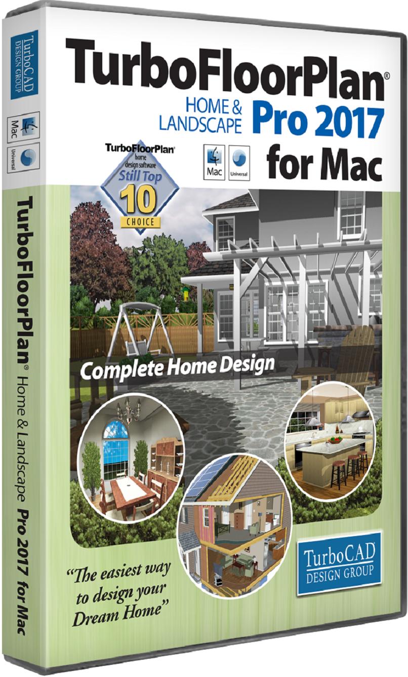 TurboFloorPlan Home and Landscape Pro Mac 2017 Mindscape